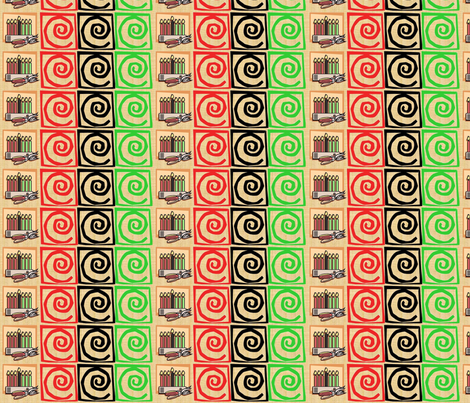 Kwanzaa Candles-016 fabric by kkitwana on Spoonflower - custom fabric