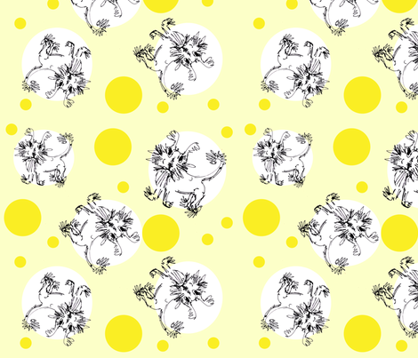Pooch Pattern Yellow Dots (Any Pattern) fabric by ginette on Spoonflower - custom fabric