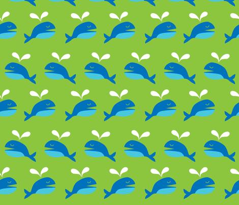 Happy Whale fabric by malien00 on Spoonflower - custom fabric