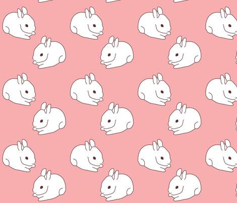 Sweet Bunny fabric by malien00 on Spoonflower - custom fabric