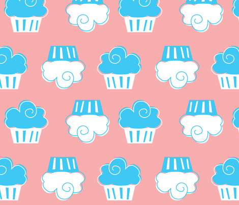 Cupcake fabric by malien00 on Spoonflower - custom fabric