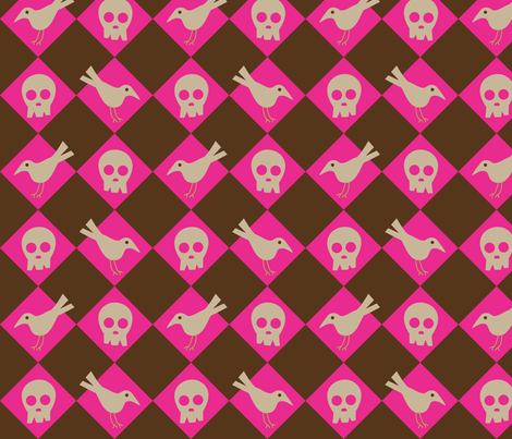 Skull & Crow fabric by malien00 on Spoonflower - custom fabric