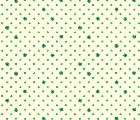 Hearts n Flowers - Jade fabric by inscribed_here on Spoonflower - custom fabric
