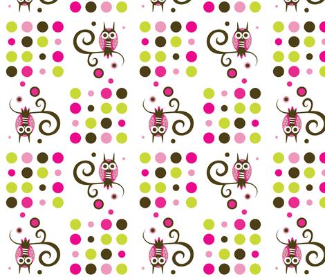 Owl Swirl fabric by malien00 on Spoonflower - custom fabric