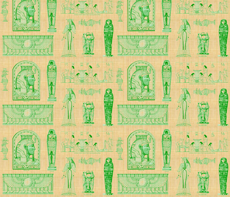 Egyptian Green-028 fabric by kkitwana on Spoonflower - custom fabric