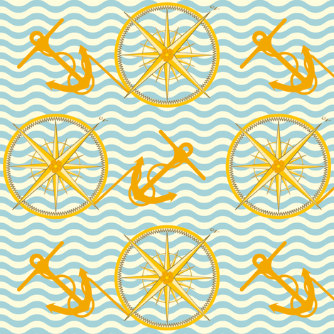 Nautical Notions fabric by inscribed_here on Spoonflower - custom fabric