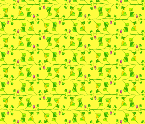 ginkgo leaves fabric by robinde on Spoonflower - custom fabric