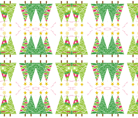 Christmas Trees wrapping fabric fabric by stephen_of_spoonflower on Spoonflower - custom fabric