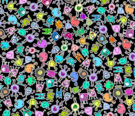 monsters fabric by mail@stefanievonhoesslin_com on Spoonflower - custom fabric