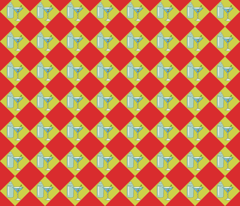 martini2colo150 fabric by flirtbuttons on Spoonflower - custom fabric