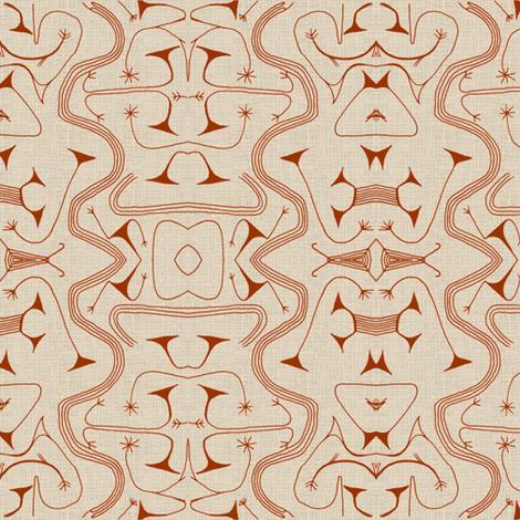 African Tribal-Brown-032 fabric by kkitwana on Spoonflower - custom fabric