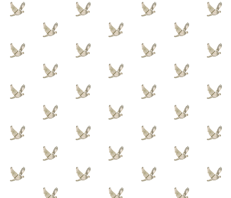 French Dove fabric by karenharveycox on Spoonflower - custom fabric