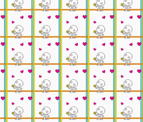 Amor de los Muertos fabric by ljonte on Spoonflower - custom fabric