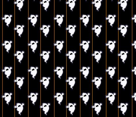 Boo in Black fabric by ljonte on Spoonflower - custom fabric