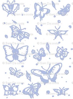 butterflies soft blue