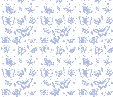 butterflies soft blue fabric by sequingirlie on Spoonflower - custom fabric