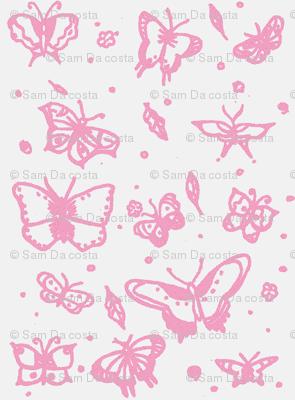 butterflies soft raspberry
