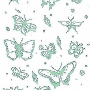 butterflies sage glow