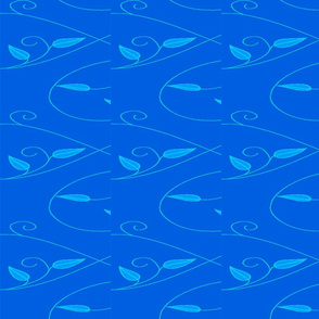 Basic repeat - vll flowered vine - yellow