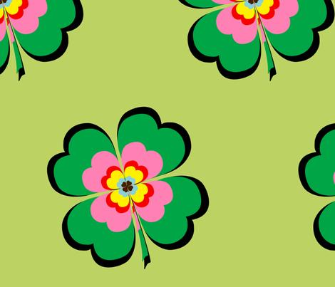 clovers fabric by snork on Spoonflower - custom fabric