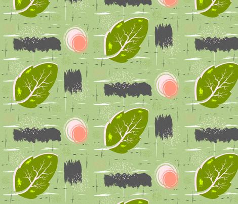 Green Leaf Bark fabric by boodillys on Spoonflower - custom fabric