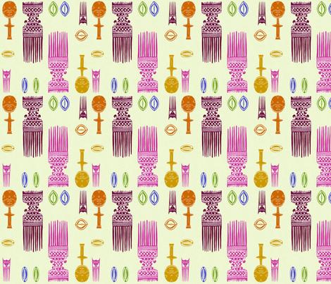 African Beauty I-036 fabric by kkitwana on Spoonflower - custom fabric