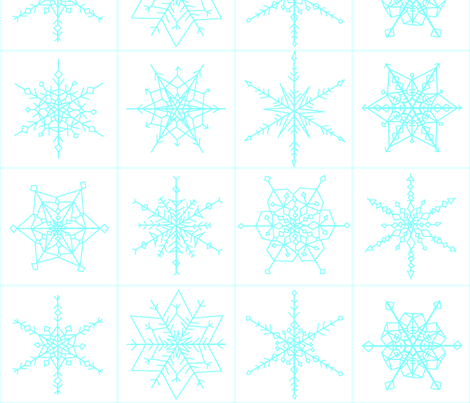 vll_snowflake_blocks_1 fabric by victorialasher on Spoonflower - custom fabric