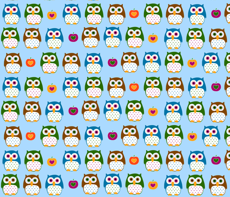 Autumn owls  fabric by katharinahirsch on Spoonflower - custom fabric