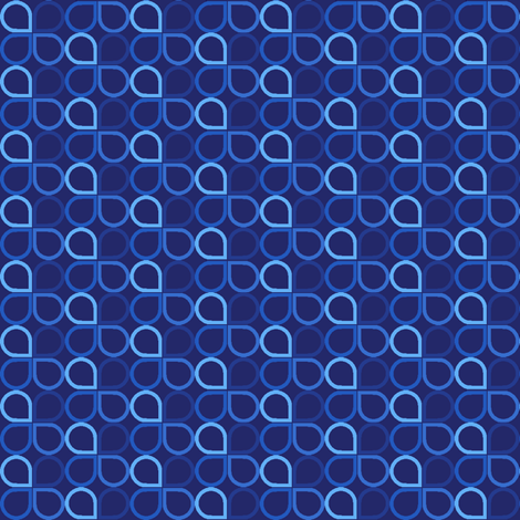Blue Drop fabric by leighr on Spoonflower - custom fabric