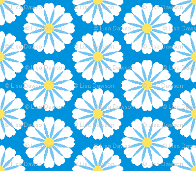 Flower Puffs Blues