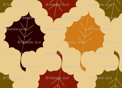 Harvest Collection - Fall Leaves Multi