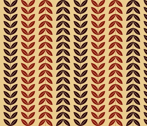 Harvest Collection - ModLeaves 4 Red - Light fabric by natalie on Spoonflower - custom fabric