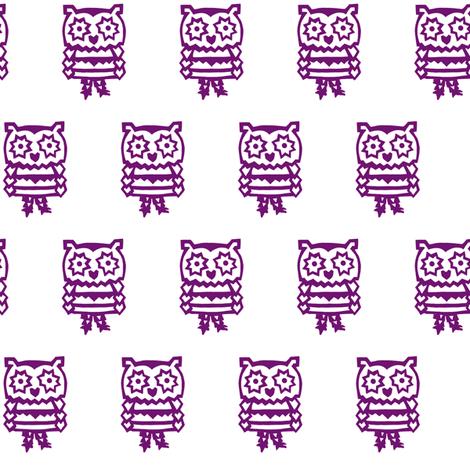pandaowl-purple  fabric by trollop on Spoonflower - custom fabric