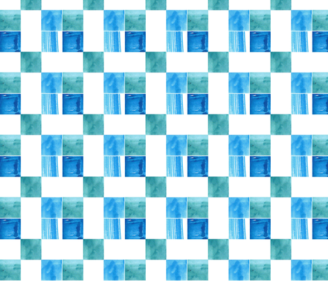 Blue Windows Check fabric by withonethread on Spoonflower - custom fabric