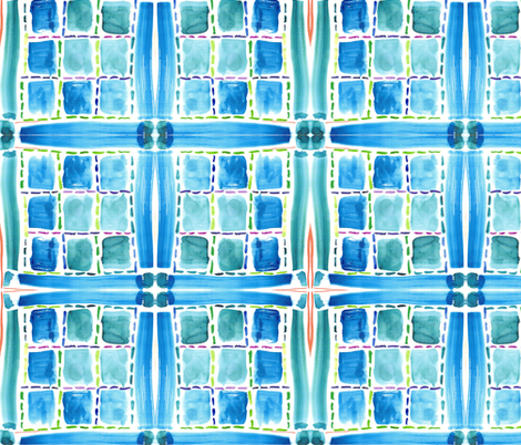 Blue Windows fabric by withonethread on Spoonflower - custom fabric