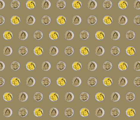 western on beige fabric by susalabim on Spoonflower - custom fabric