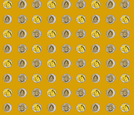 western on yellow fabric by susalabim on Spoonflower - custom fabric