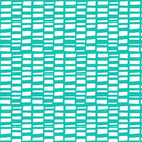 bricks aqua fabric by lola_designs on Spoonflower - custom fabric