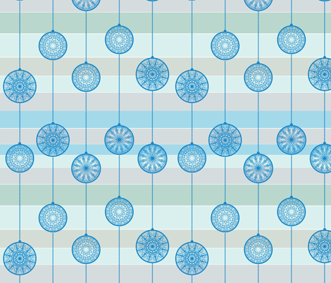blue baubles fabric by suziedesign on Spoonflower - custom fabric