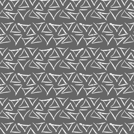 Woodland Triangles fabric by mrshervi on Spoonflower - custom fabric