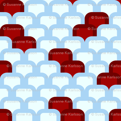 red and blue pattern
