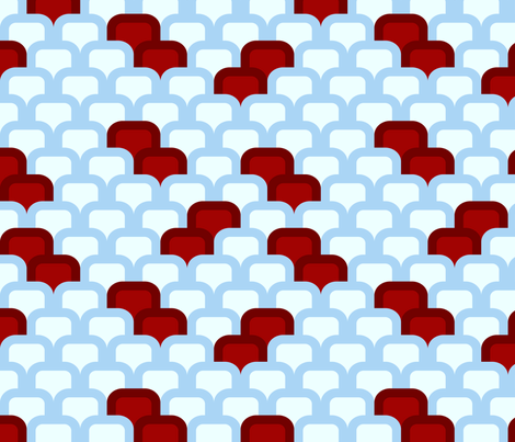 red and blue pattern fabric by suziedesign on Spoonflower - custom fabric