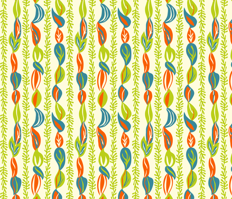 Leafy Curtains fabric by totallysevere on Spoonflower - custom fabric