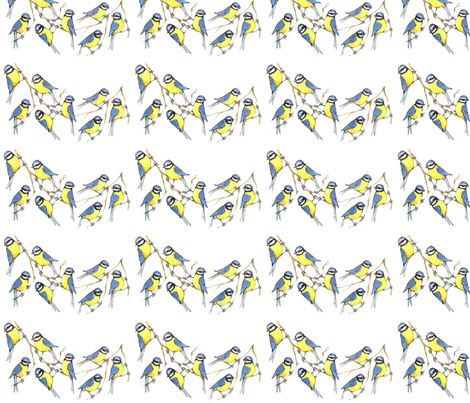 Birdies fabric by anenome on Spoonflower - custom fabric