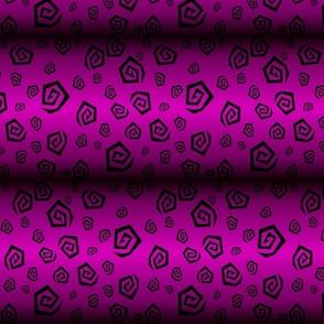 Luminous Violet Spiral Leopard