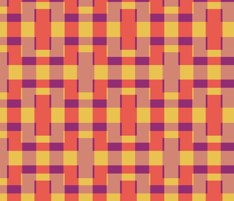mod plaid fabric by anieke on Spoonflower - custom fabric