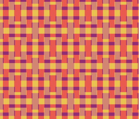 plaid circuit fabric by anieke on Spoonflower - custom fabric