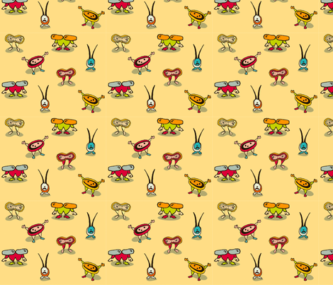 Bacterium! in gold fabric by cyoungquist on Spoonflower - custom fabric