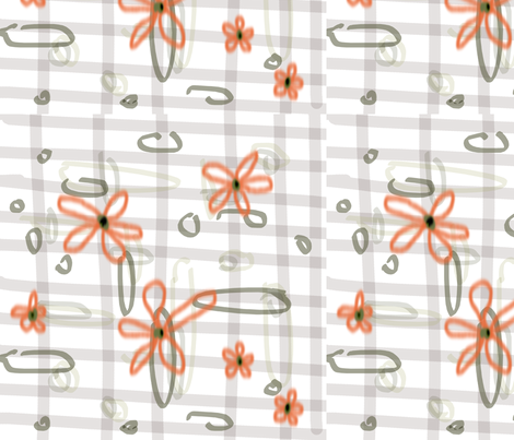 daisy fabric by ginette on Spoonflower - custom fabric