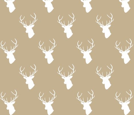Tan Deer Silhouette fabric by mrshervi on Spoonflower - custom fabric